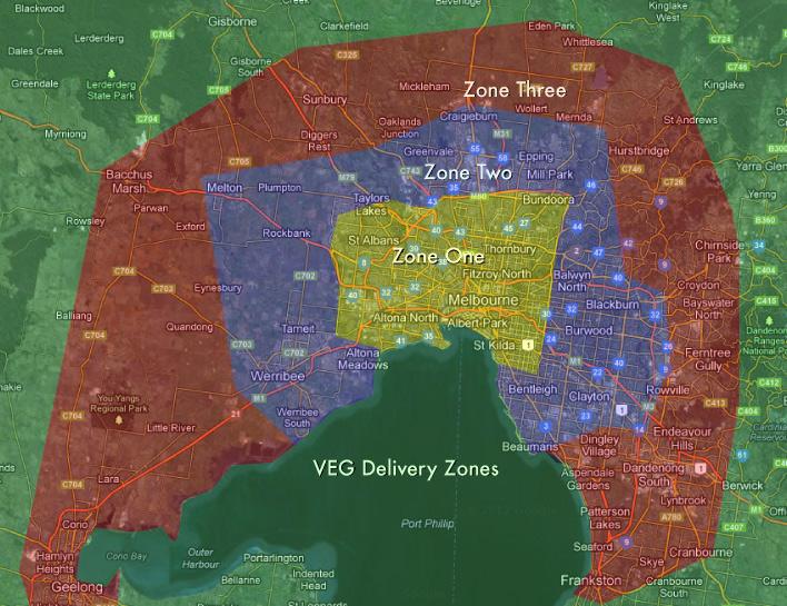 VEG Delivery Zones