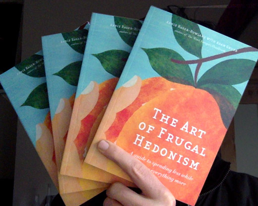 book covers: the art of frugal hedonism