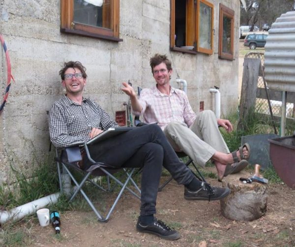 Adam Grubb and Dan Palmer at Yandoit Farm
