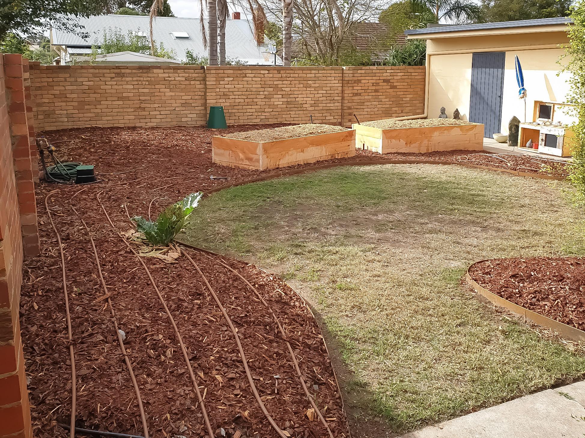 Garden makover with wicking beds Preston